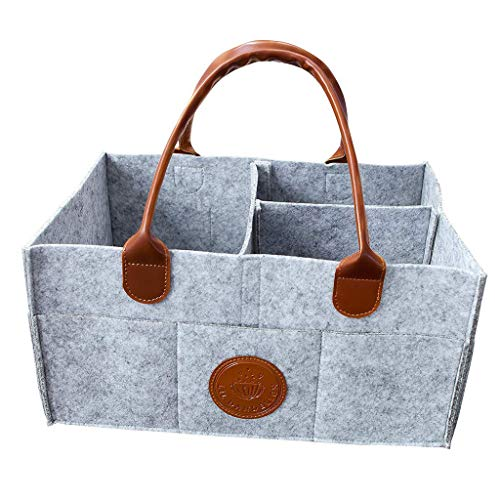 BEAUTYVAN Small Storage Basket Linen Storage Bins for Toy Storage (Grey) ()