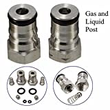 Letbo New 19/32-18 Gas Liquid Post and Poppet Ball Lock Keg Post Kit''