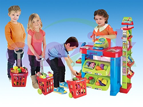 Ginzick Super Fun Kids Supermarket Playset
