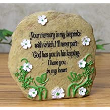 In Loving Memory Message Rock Written In Stone Polystone - Sympathy Gift for Loss of Loved One - Remembrance Memorial Bereavement - 3 Inch High