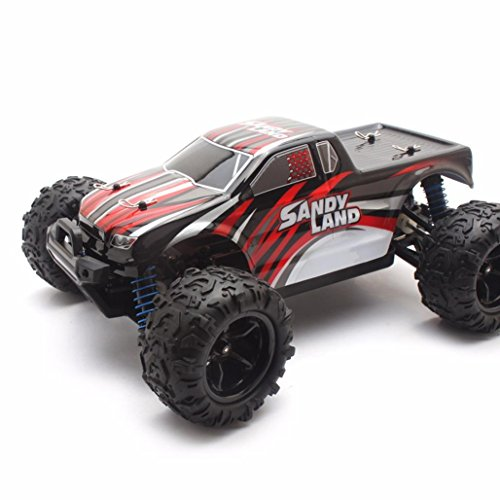 Motor Brush Racing (iMakcc S9300 2.4Gh RC Racing Cars RTR 4 WD High Speed Waterproof Electronics Monster Truck Best Toy Car (Red))