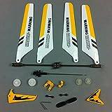 Syma - pezzi di ricambio per elicottero Syma S107 / S107G RC, colore: Giallo