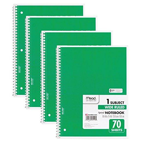 1 Subject Spiral Notebooks - 9
