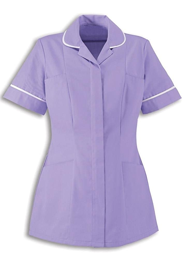 Alexandra Traditional Ladies Women Nursing Tunics NHS Health Medical Care (16, Lilac/White)