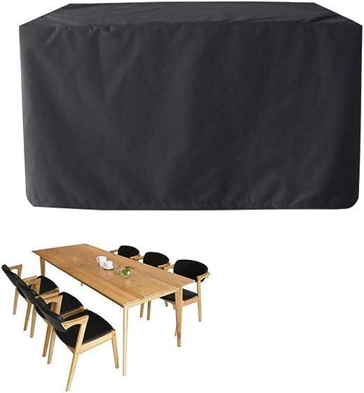 AGLZWY Funda Protectora para Muebles De Jardín A Prueba De Agua Lona Alquitranada Protector Resistencia Al Desgarro Paño Oxford Dispositivo Mesa Y Silla (Color : Negro, Size : 130X130X90CM): Amazon.es: Hogar