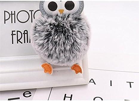 Utile Chouette en peluche boule porte-cl/és pendentif bande dessin/ée en peluche poup/ée porte-cl/és boule pompon porte-cl/és Gadget Maison