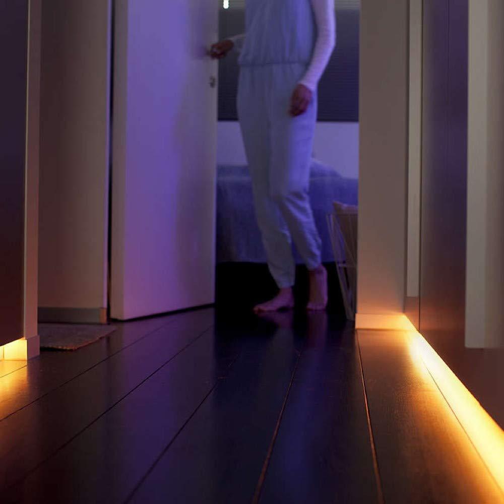 Philips Hue LightStrip+ 6 Meter Set (1 (1 (1 x 2m + 4 x 1m), flexibel erweiterbar, dimmbar, bis zu 16 Millionen Farben, per Hue-Bridge (nicht inkl.) steuerbar via App, Smartphone, Tablet & Sprache, LED-Strip 20181d