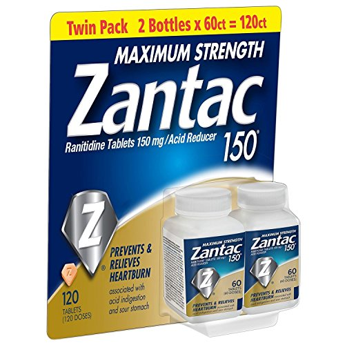 Zantac 150 Maximum Strength Tablets,6Pack ( 60 Count Each ) by Zantac