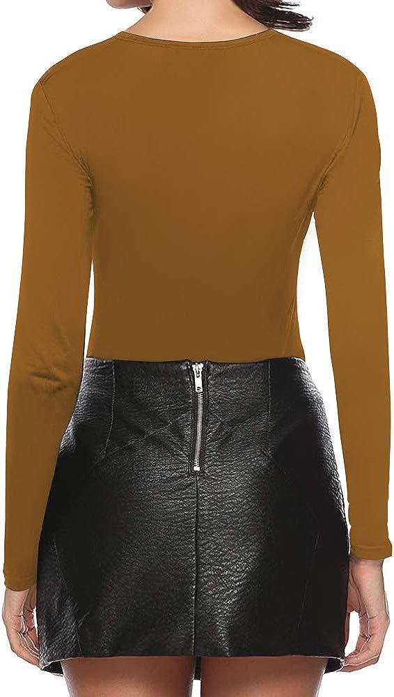 MANGOPOP Womens Cross Wrap Ruched Deep V Neck Short Sleeve//Long Sleeve Shirt Bodysuit Jumpsuit