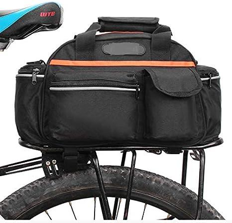 luoshui 15L Bicicleta Asiento Trasero Bolsa Maletero baúl Cesta ...