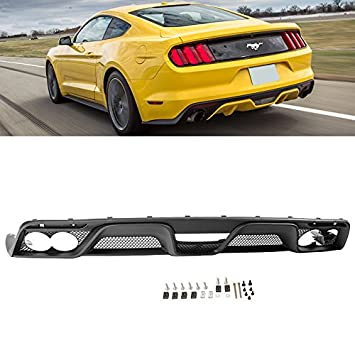 Amazon Com Rear Lower Bumper Diffuser For 2015 2017 Ford Mustang