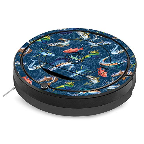 - MightySkins Skin for iRobot Roomba 890 Minimal Coverage Vacuum - Saltwater Compass | Protective, Durable, and Unique Vinyl Decal wrap cover | Easy To Apply, Remove, and Change Styles | Made in the USA