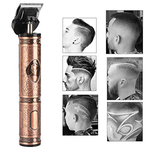 YOUKUKE T-Blade Trimmer,Electric Hair Clipper for Men Pro Clippers Barber Accessories Grooming Waterproof Rechargeable Cordless Close Cutting T-Blade Trimmer Baldhead Clipper