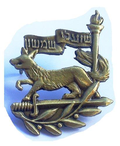 (Israel army IDF Samson Foxes unit badge fox sword torch שועלי שמשון)