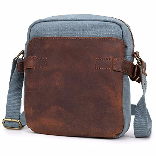 white parcel chest men's flows bags male KHSKX version casual M Korean canvas Canvas real slung azul bag shoulder cool Pack T6wq814