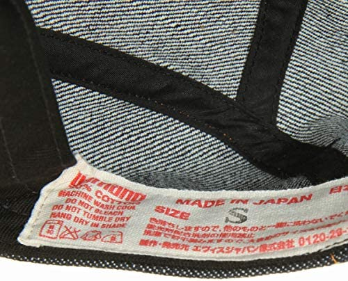 EVISU JEANS EDD-0201MK カモメ刺繍 ポケット付き フリーサイズ デニム キャップ セルヴィッチデニム ハンチング