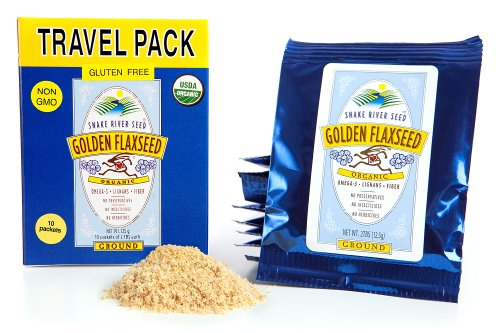 100 Fresh Packs - Farm Fresh 100% Natural Golden Flax Seed, Travel Pack, Freshly Ground, Organic, Gluten-Free, Non-GMO, Nutty Flavor