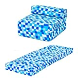 Blue Pixels Design Single Foam Fold Out Z Bed Chair Guest Mattress Sleepover