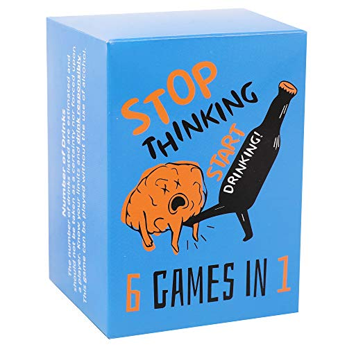 Stop Thinking Start Drinking! Card Game for Adults - 150 Cards to Help Your Party get (at Least) Tipsy, or (Probably) Drunk - Truth or Dare, Most Likely to, Skills Challenge, and More!