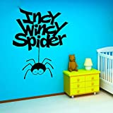 inspiring chinese garden design Removable Vinyl Wall Stickers Mural Decal Art Home Decor Incy Wincy Spider Funny Hanging Spiders Interesting Kids Room for Nursery Kids Room