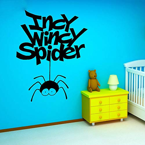 Removable Vinyl Wall Stickers Mural Decal Art Home Decor Incy Wincy Spider Funny Hanging Spiders Interesting Kids Room for Nursery Kids Room