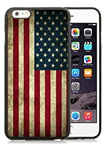 Hot Sale 6S Plus Case,Vintage Us Flag Black iPone 6 Plus/6S Plus 5.5 inches Screen TPU Cover Case Charming and Unique Design