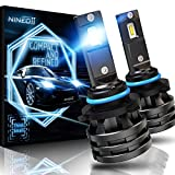 NINEO 9006 LED Headlight Bulbs w/Small Size,10000LM 6500K Cool White CREE Chips Hb4 All-in-One Conversion Kit