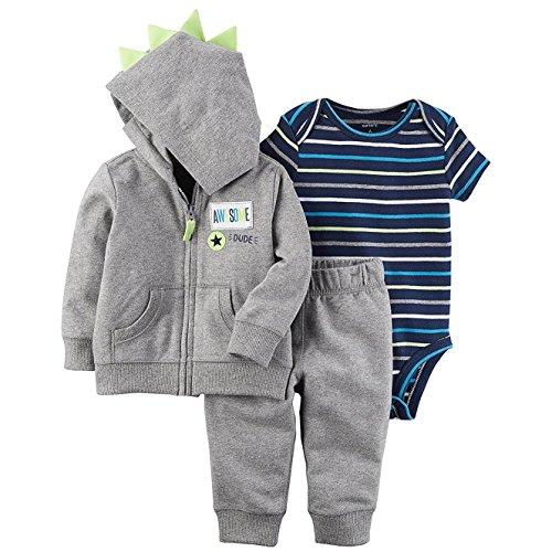 Hood Jacket Set - Carter's Baby Boys' 3 Piece Little Jacket Set 12 Months
