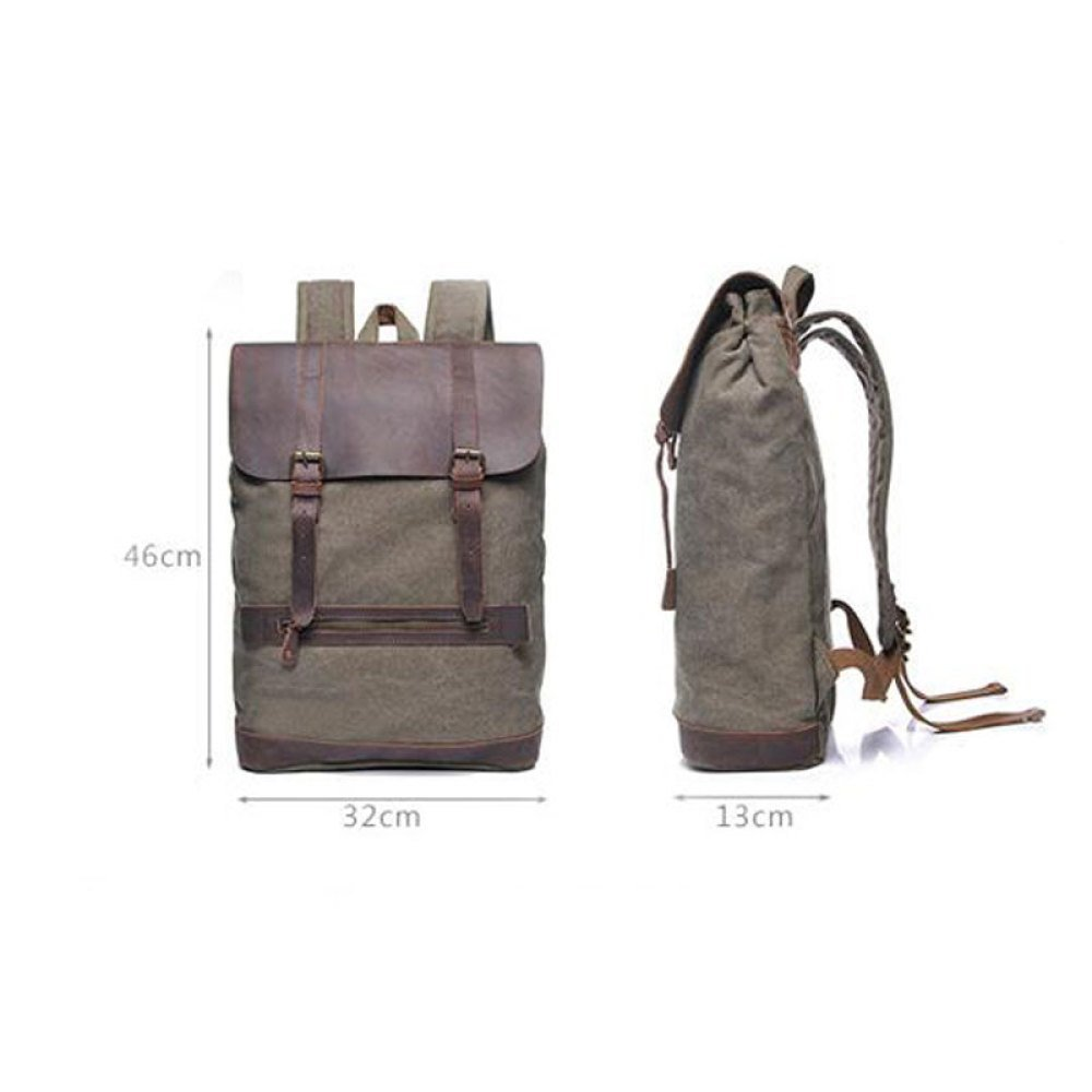 cf550eb377 32 Color : Armygreen, Size : One Size Sccarlettly Sac à Dos Toile Vintage  Sac