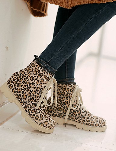 Animal 5 Casual Platform Scarpe moda comodi Eu38 Cn38 Yellow us7 Red da 5 Leopard Outdoor donna XZZ Pattern Star alla Uk5 Stivali nRx0zqgR
