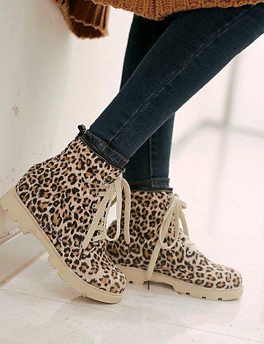 XZZ  Damenschuhe Damenschuhe Damenschuhe - Stiefel - Outddor   Lässig - Denim Jeans - Plateau - Komfort   Modische Stiefel - Gelb   Rot   Tierdruck B01L1GTXUE Sport- & Outdoorschuhe Mode-Muster 82c779