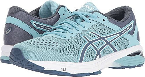 ASICS Womens GT-1000 6 Running Shoe, Porcelain Blue/Smoke Blue/White, Size 10.5