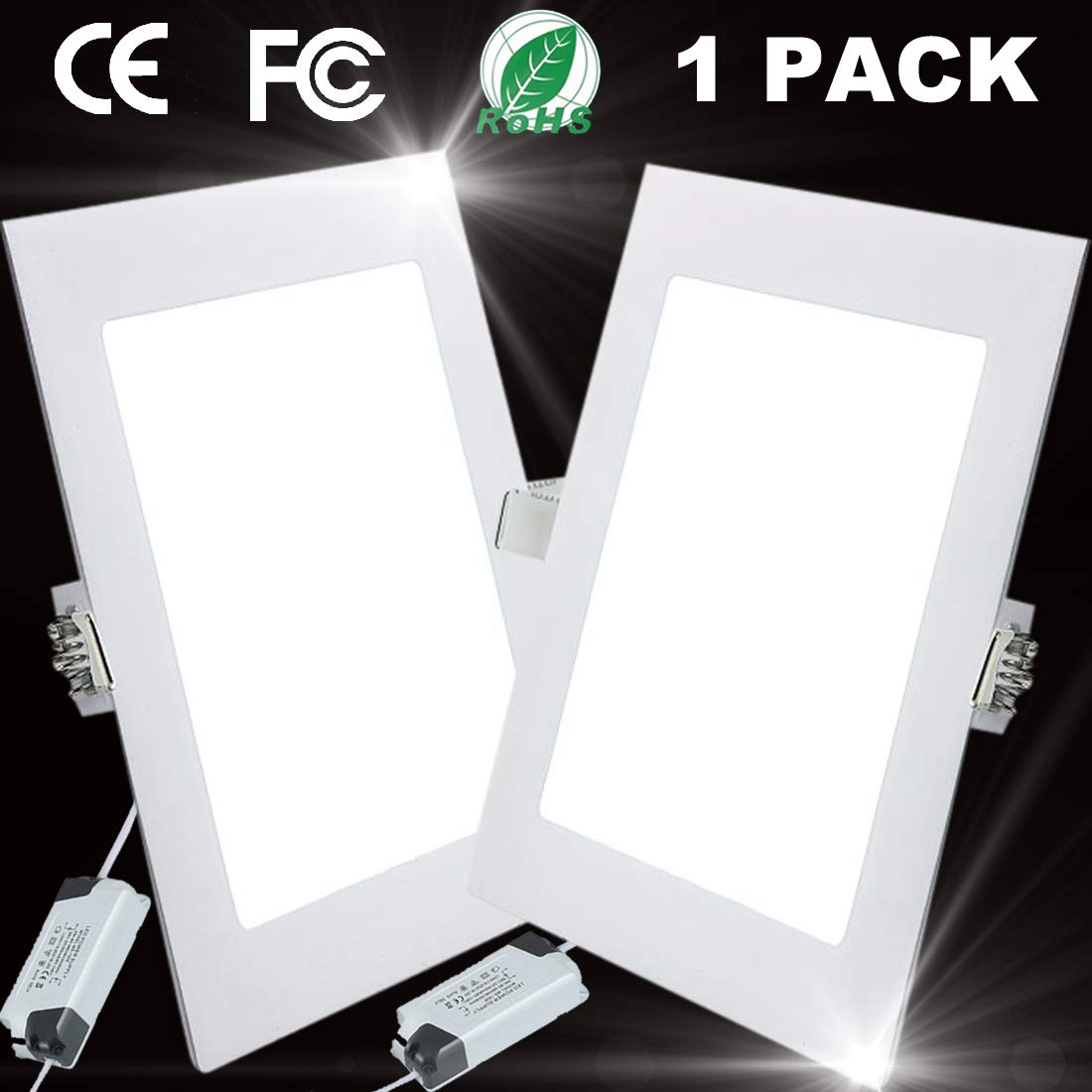 12W Luz de Techo Empotrada LED Cuadrados Panel de Luz Led Downlight Destacar Iluminaci/ón Cocina Ba/ño Corredor 3000K Warm White Tama/ño del Agujero 15.5CM