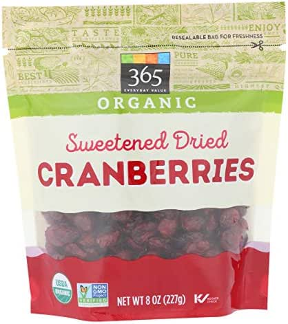Dried Fruit & Raisins: 365 Everyday Value Organic Dried Cranberries