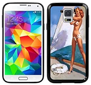 Pin-Up Girl Vintage Handmade Samsung Galaxy S5 Black Case