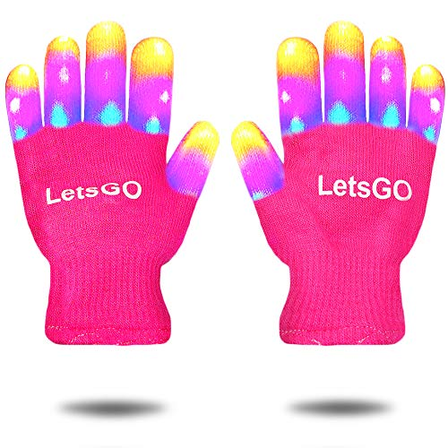 Cool Toys for 5-10 Years Old Kids, My-My Finger Light Hot Top Toys for Birthday Halloween Party Christmas Gifts for Kids Toys for 3-10 Years Old Kids Stocking Stuffers for Kids Stocking Fillers Pink (Best Birthday Presents For Her 2019)