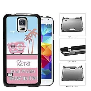 Retro Is Always Rockin Pink Radio Hard Plastic Snap On Cell Phone Case Samsung Galaxy S5 SM-G900