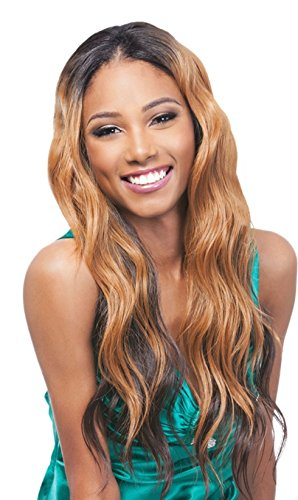 Outre Synthetic Center Part Swiss Lace Front Wig Janelle (1B)