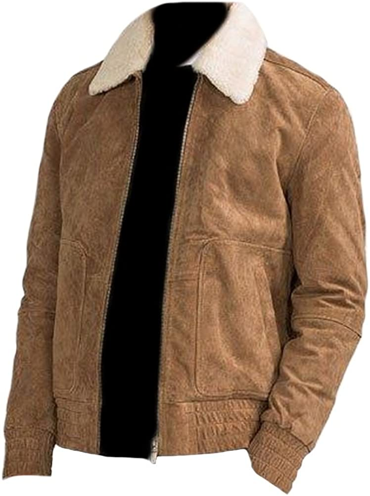 coolhides Mens Suede Real Leather Brown Jacket