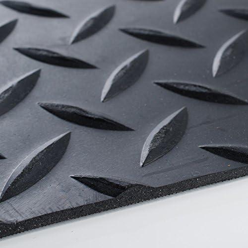 150x150cm nombreux mod/èles et tailles isolant Rev/êtement de sol etm/® tapis caoutchouc antid/érapant tapis noir pastill/é int/érieur ou ext/érieur r/ésistant
