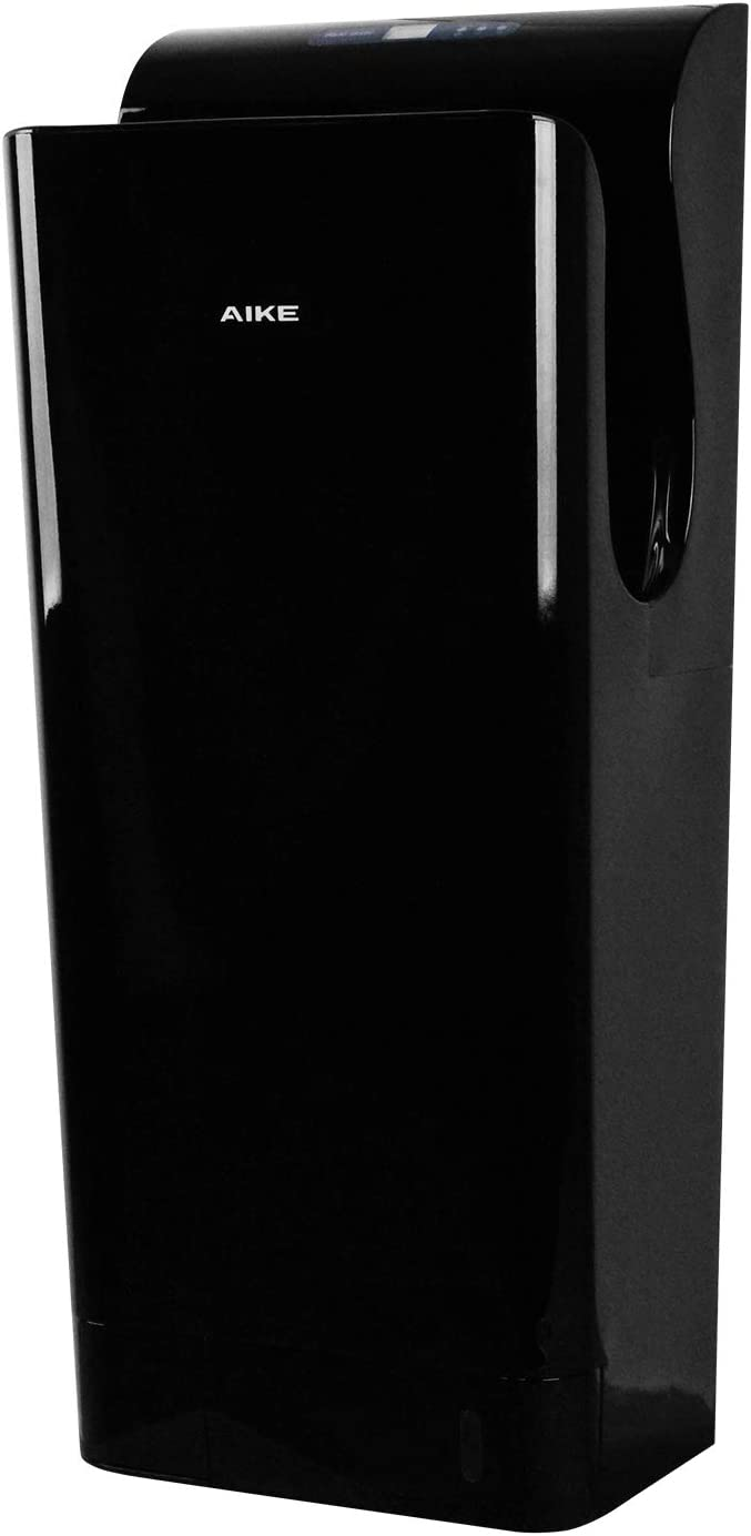 AIKE Premium Commercial Jet Hand Dryer with HEPA Filter Black 1850W 110V