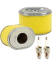 OxoxO Pack van 2 Set Vervanging Luchtfilter Cleaner met Bougie Geschikt voor GX140 GX160 GX200 5HP 5.5HP 6.5HP Motor Generator Waterpomp