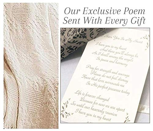 Unique Sympathy Gift Heart Blanket to Send to A Funeral Or Memorial for Loss of A Loved One (Poems To Send To Your Best Friend)