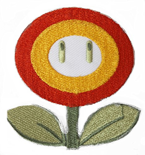 Fire Flower Patch Embroidered Iron on Badge Applique