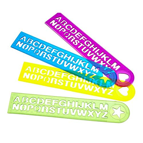 Alphabet Ruler Favour - 4 pk