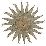Large Metal Sun Wall Decor Bronze Green Garden Indoor Outdoor For Sale