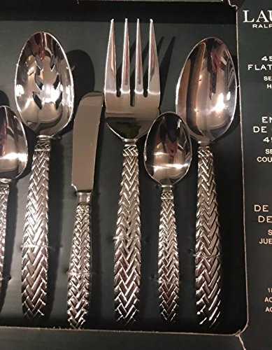 Ralph Lauren Equestrian Braid 45 PC Flatware Set 18/10 Stainless