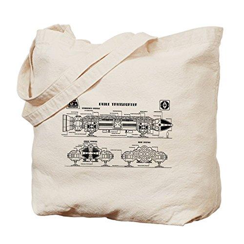 CafePress–espacio: 1999–Eagle Transporter Tote Bag–Natural gamuza de bolsa de lona bolsa, bolsa de la compra