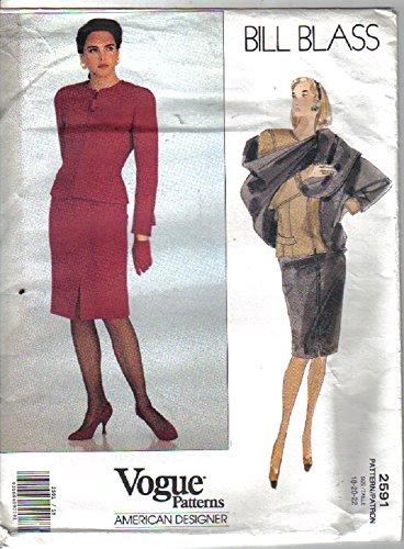 Vogue American Designer Pattern - Bill Blass #2591