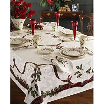 lenox holiday nouveau christmas tablecloth 60 x 84 oblong rectangular
